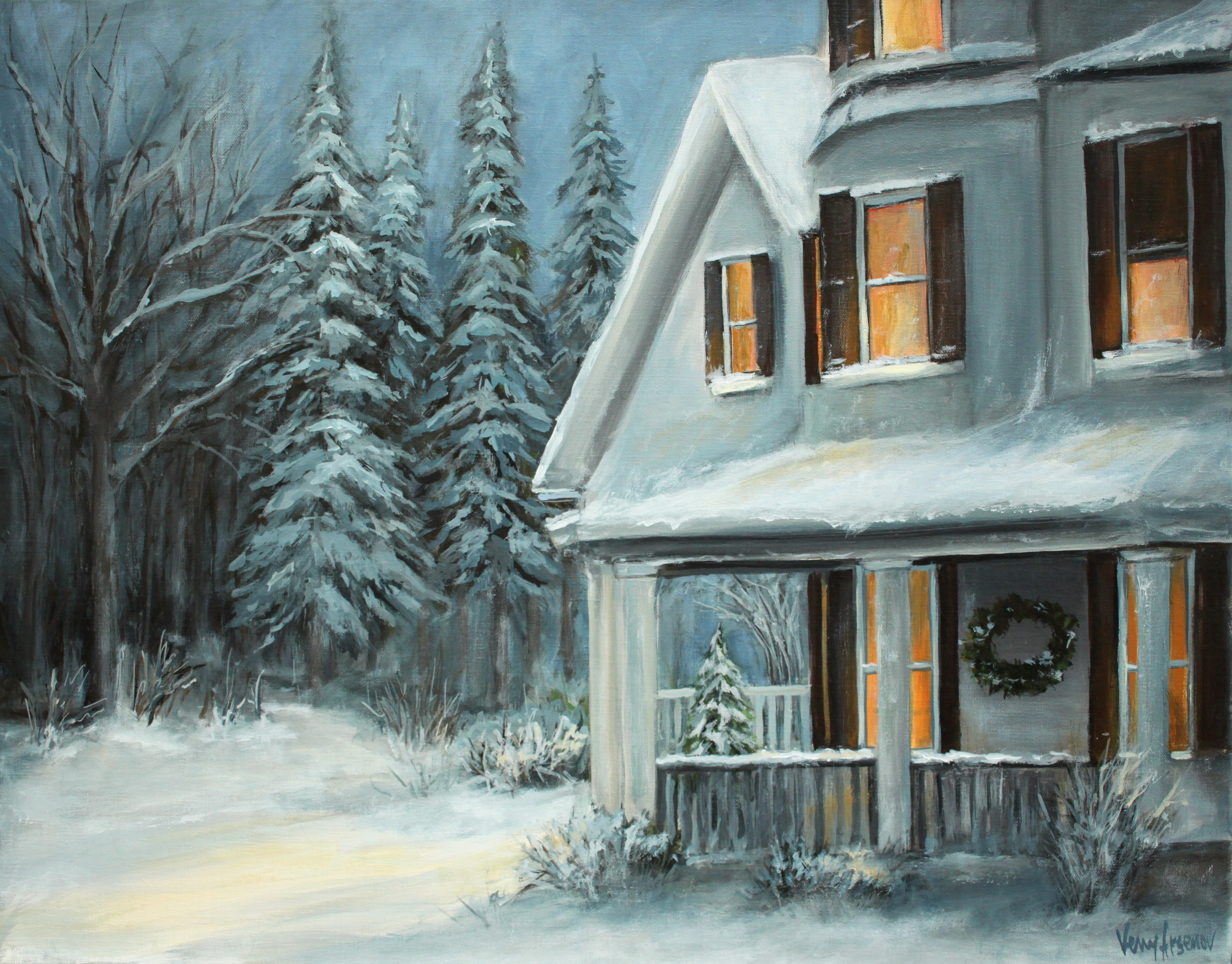 Country Living Fine Art Gallery Fine Art By Venetka Arsenov